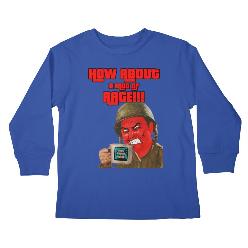 Mug of Rage Kids Longsleeve T-Shirt by True Crime Island's Artist Shop