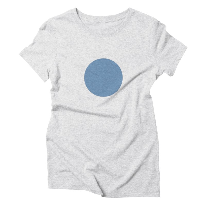 Blue Circle Women's Triblend T-Shirt by truedrew's Artist Shop