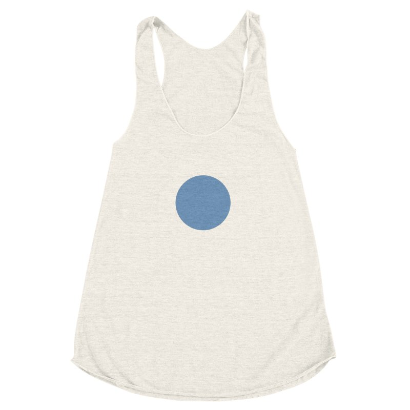 Blue Circle Women's Racerback Triblend Tank by truedrew's Artist Shop
