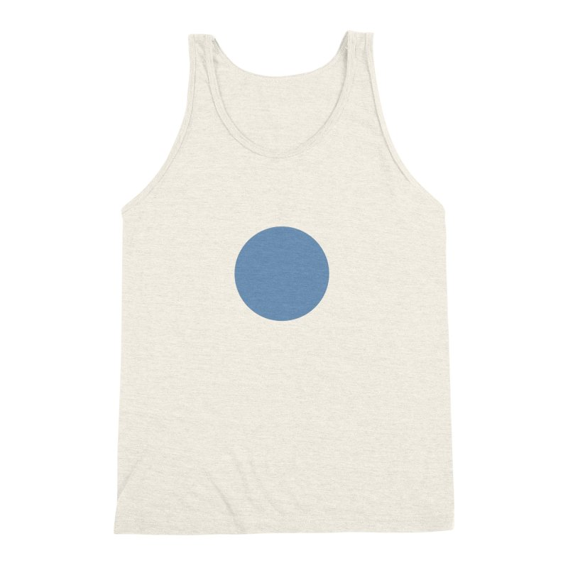 Blue Circle Men's Triblend Tank by truedrew's Artist Shop