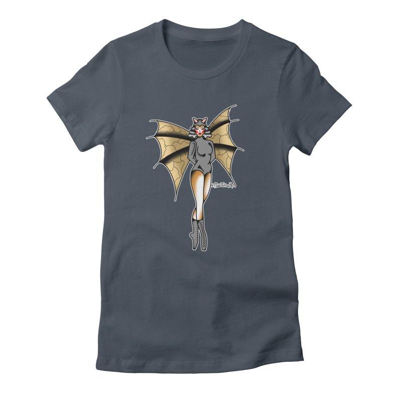 BATWING PINUP BY JADE R. Women's T-Shirt by True Love Tattoo Studios Shop