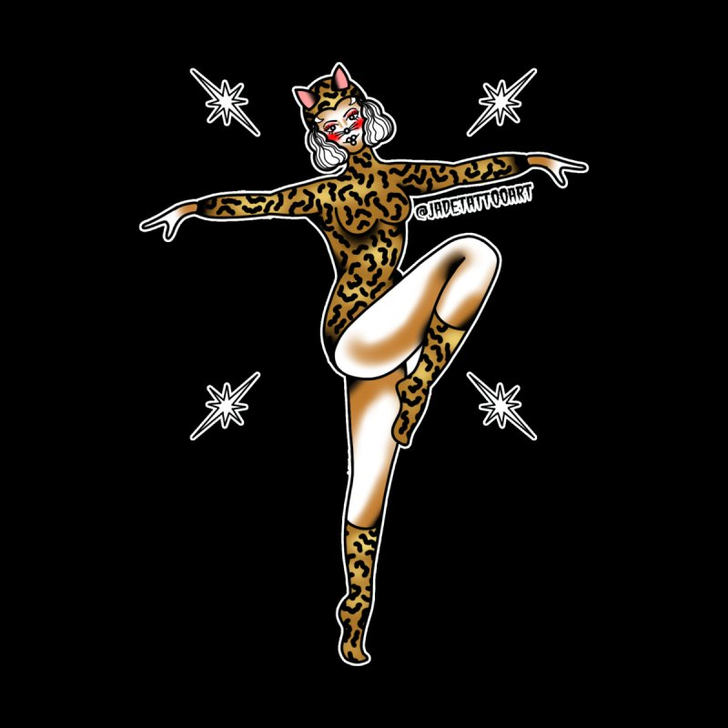 PIN-UP LE TIGER  BY JADE R. Home Mounted Aluminum Print by True Love Tattoo Studios Shop