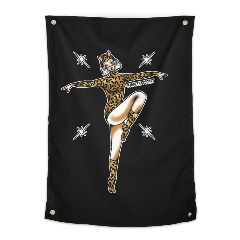 PIN-UP LE TIGER  BY JADE R. Home Tapestry by True Love Tattoo Studios Shop
