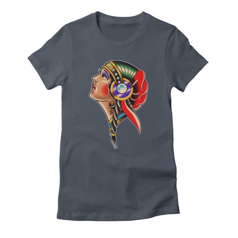 TRADITIONAL GIPSY HEAD BY ADAM FACENDA Women's T-Shirt by True Love Tattoo Studios Shop