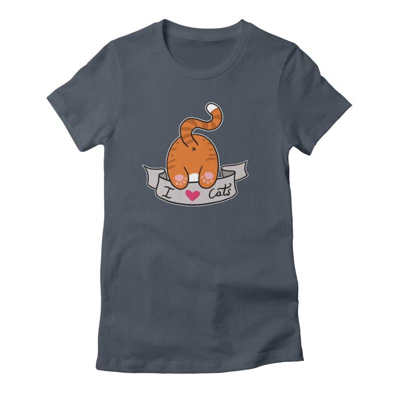 I heart cats  BY CONSTANTINA Women's T-Shirt by True Love Tattoo Studios Shop