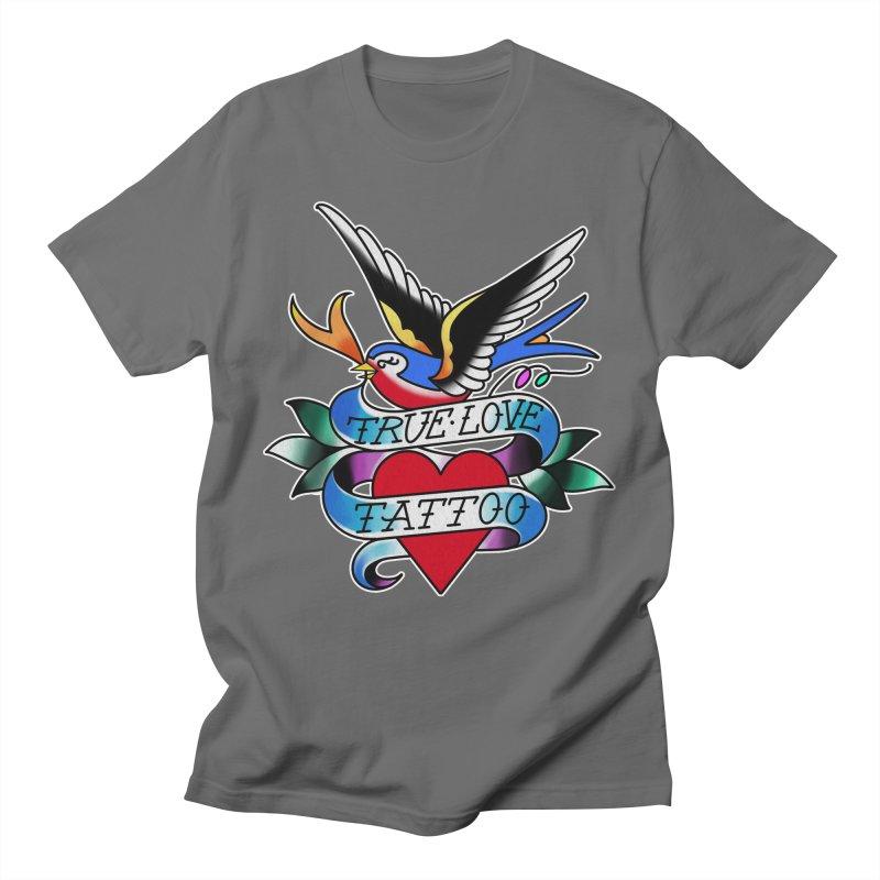 REVISED TRUE LOVE BIRD LOGO Men's T-Shirt by True Love Tattoo Studios Shop