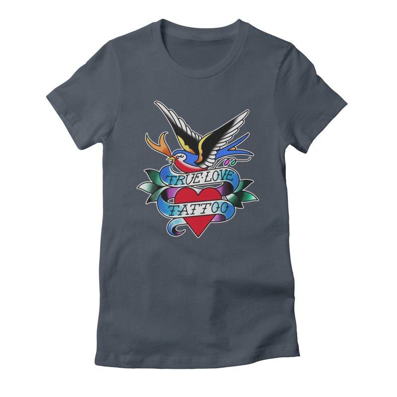 REVISED TRUE LOVE BIRD LOGO Women's T-Shirt by True Love Tattoo Studios Shop