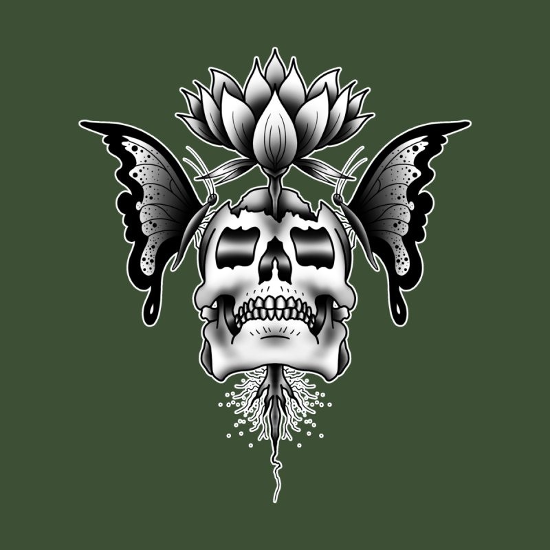 DEATH AND BEAUTY BY LUKE PUKE Women's T-Shirt by True Love Tattoo Studios Shop