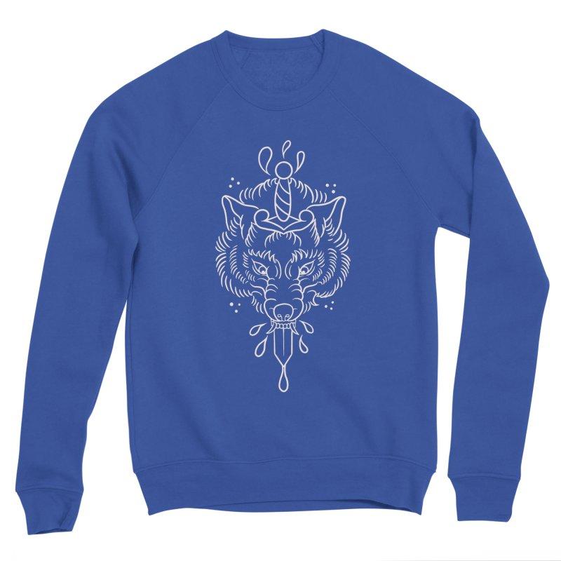 WOLF BLOOD WHITE OUTLINE BY ASH Women's Sweatshirt by True Love Tattoo Studios Shop
