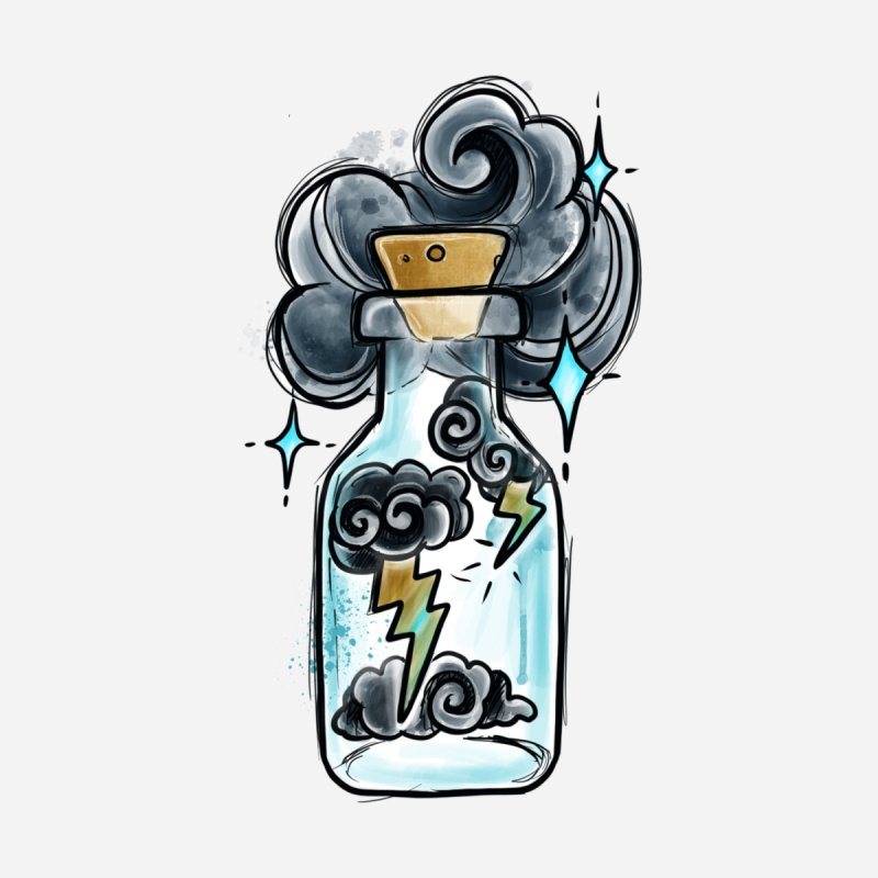 Lightning in a Bottle By Constantina Accessories Skateboard by True Love Tattoo Studios Shop