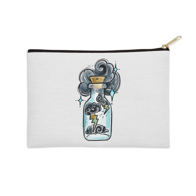Lightning in a Bottle By Constantina Accessories Zip Pouch by True Love Tattoo Studios Shop