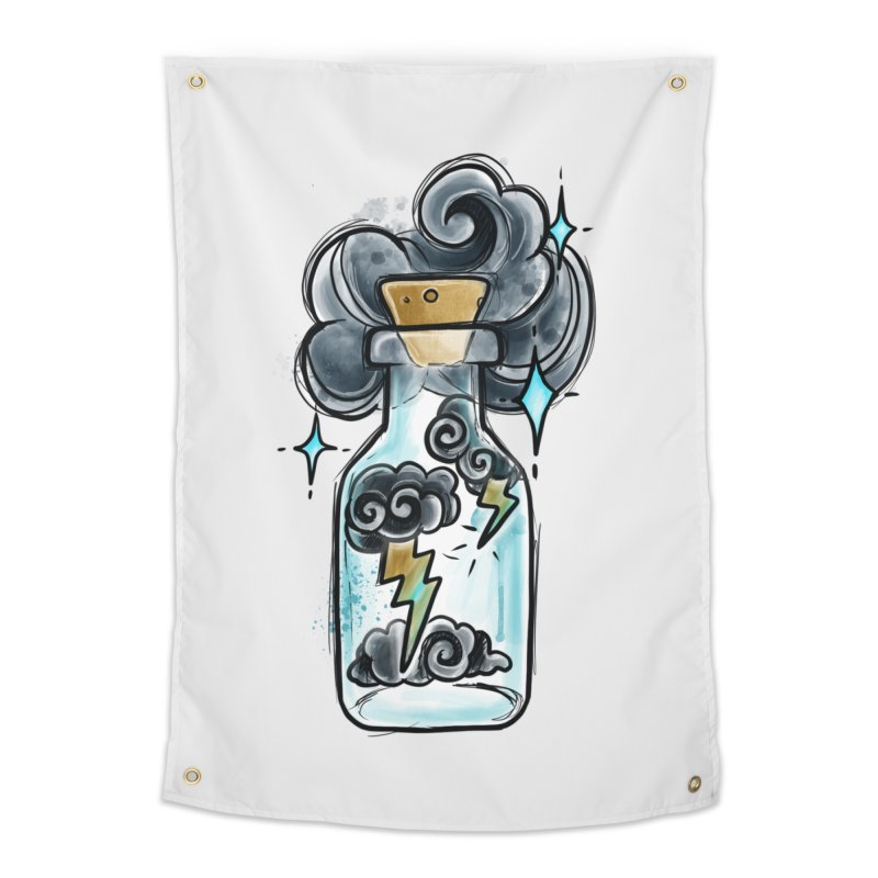 Lightning in a Bottle By Constantina Home Tapestry by True Love Tattoo Studios Shop