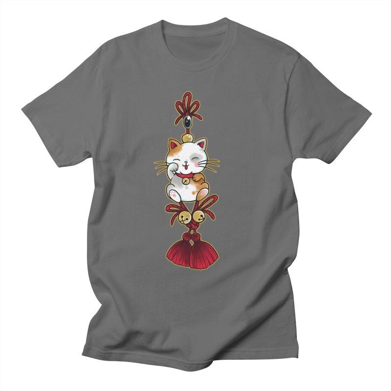 Lucky Cat By Constantina Men's T-Shirt by True Love Tattoo Studios Shop