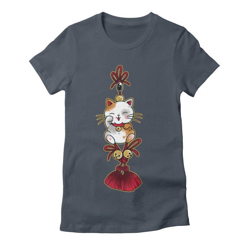 Lucky Cat By Constantina Women's T-Shirt by True Love Tattoo Studios Shop