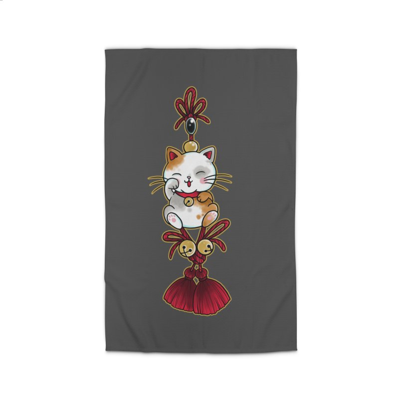 Lucky Cat By Constantina Home Rug by True Love Tattoo Studios Shop