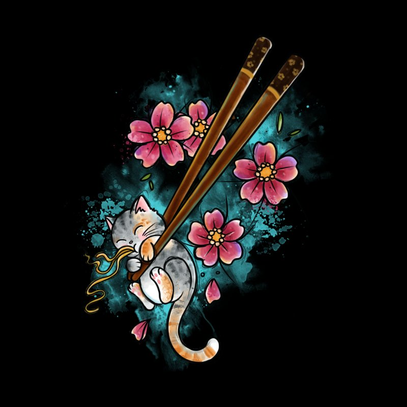 Chopstick Kitten By Constantina Home Rug by True Love Tattoo Studios Shop