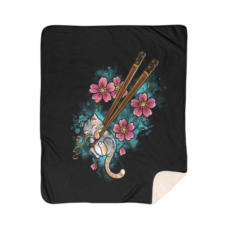 Chopstick Kitten By Constantina Home Blanket by True Love Tattoo Studios Shop
