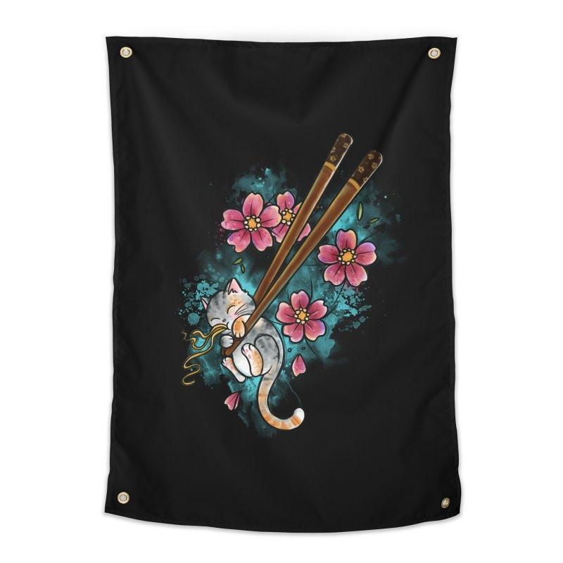 Chopstick Kitten By Constantina Home Tapestry by True Love Tattoo Studios Shop