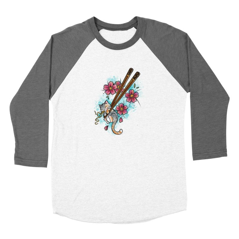 Chopstick Kitten By Constantina Women's Longsleeve T-Shirt by True Love Tattoo Studios Shop
