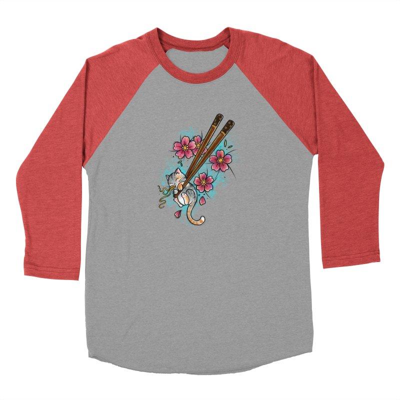 Chopstick Kitten By Constantina Men's Longsleeve T-Shirt by True Love Tattoo Studios Shop