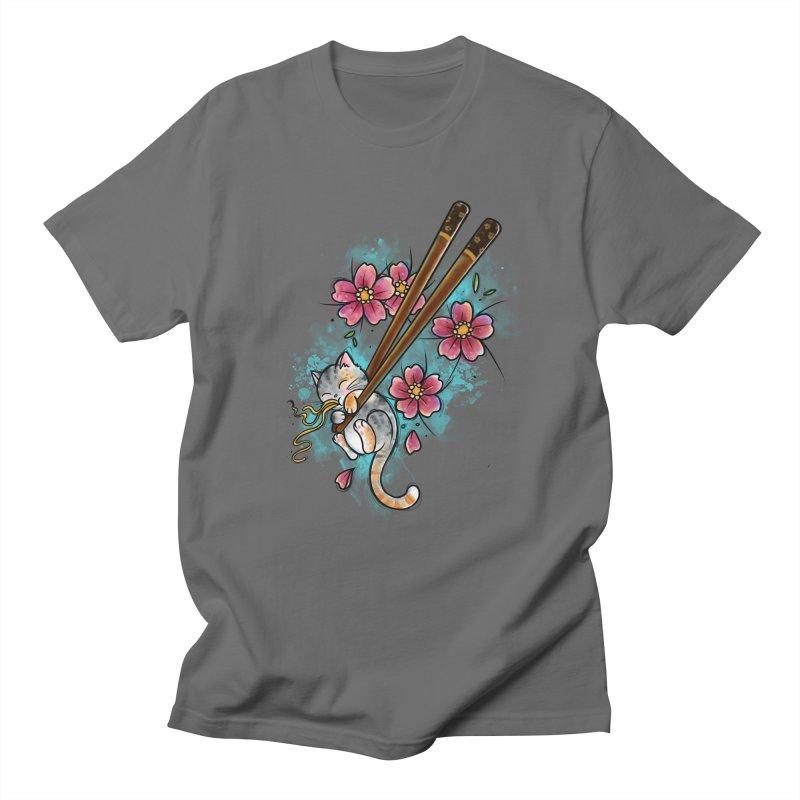 Chopstick Kitten By Constantina Men's T-Shirt by True Love Tattoo Studios Shop