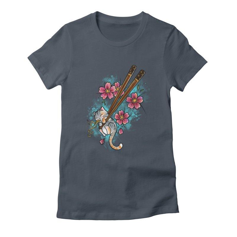 Chopstick Kitten By Constantina Women's T-Shirt by True Love Tattoo Studios Shop
