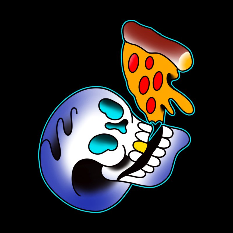 I HEART PIZZA BY ADAM FACENDA Men's T-Shirt by True Love Tattoo Studios Shop