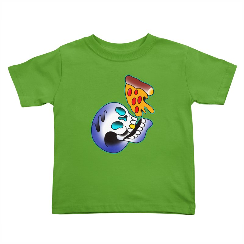 I HEART PIZZA BY ADAM FACENDA Kids Toddler T-Shirt by True Love Tattoo Studios Shop