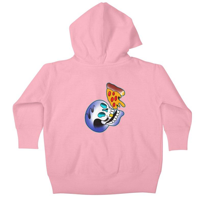 I HEART PIZZA BY ADAM FACENDA Kids Baby Zip-Up Hoody by True Love Tattoo Studios Shop