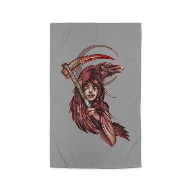 RED REAPER BY ERICK RIVERO Home Rug by True Love Tattoo Studios Shop