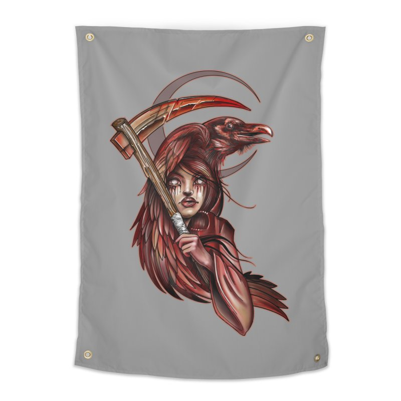 RED REAPER BY ERICK RIVERO Home Tapestry by True Love Tattoo Studios Shop