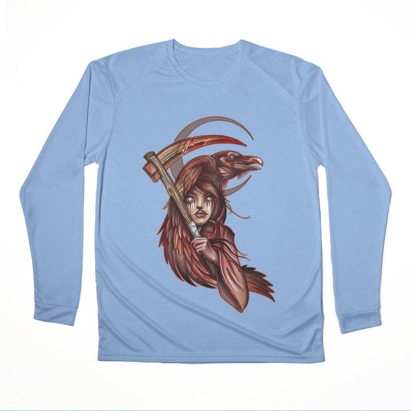 RED REAPER BY ERICK RIVERO Men's Longsleeve T-Shirt by True Love Tattoo Studios Shop