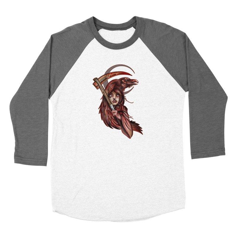 RED REAPER BY ERICK RIVERO Women's Longsleeve T-Shirt by True Love Tattoo Studios Shop