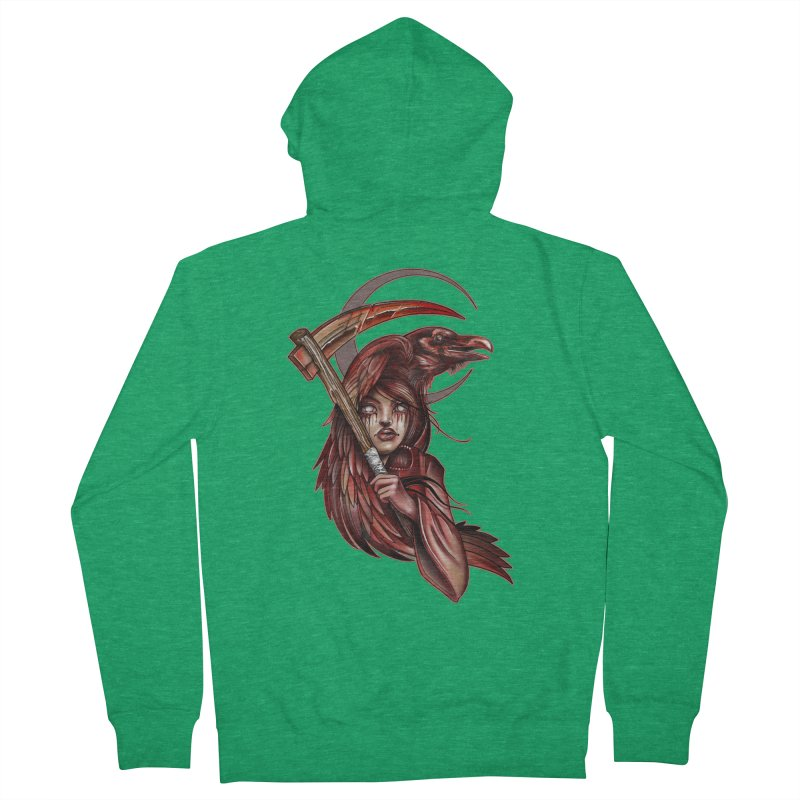RED REAPER BY ERICK RIVERO Men's Zip-Up Hoody by True Love Tattoo Studios Shop