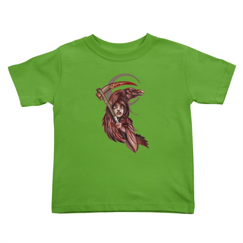 RED REAPER BY ERICK RIVERO Kids Toddler T-Shirt by True Love Tattoo Studios Shop