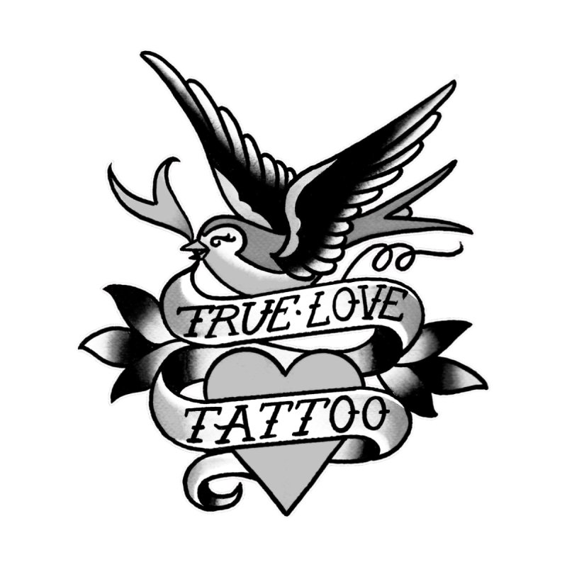 Classic Bird Logo in Black & White by True Love Tattoo Studios Shop