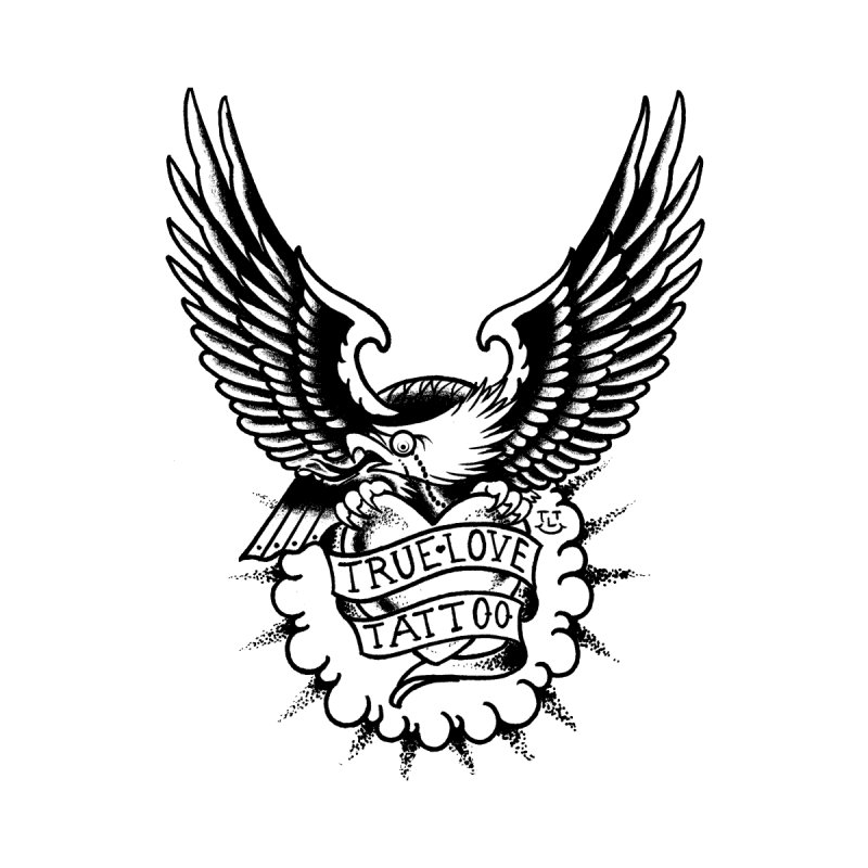 TLT_BW_Eagle by True Love Tattoo Studios Shop