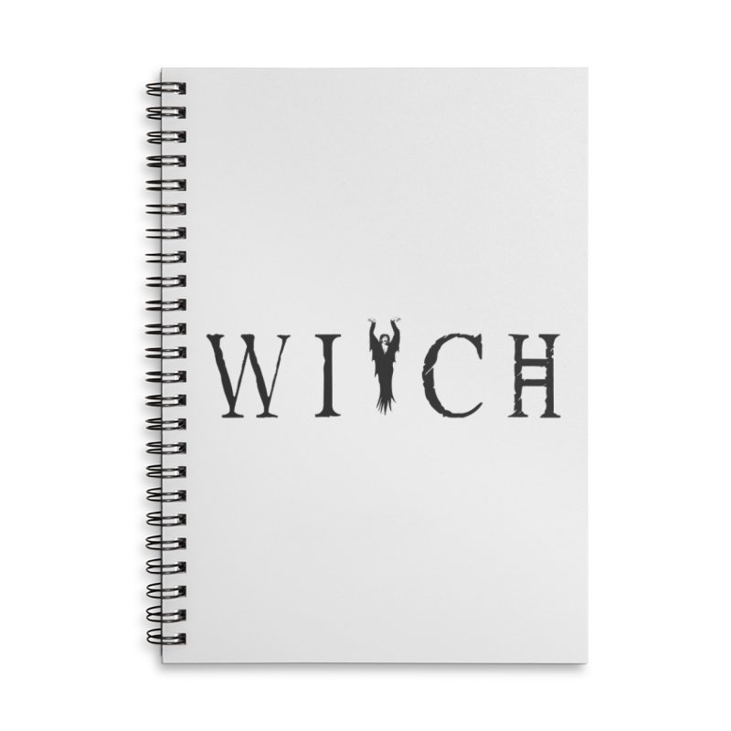 WITCH Accessories Lined Spiral Notebook by True To My Wyrd's Artist Shop