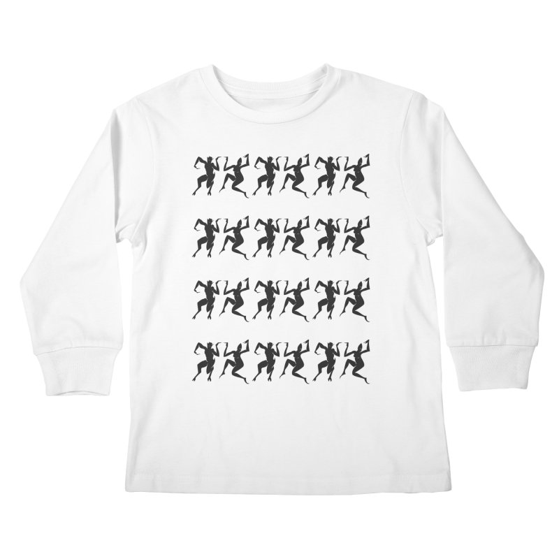 Devils Dancing Kids Longsleeve T-Shirt by True To My Wyrd's Artist Shop