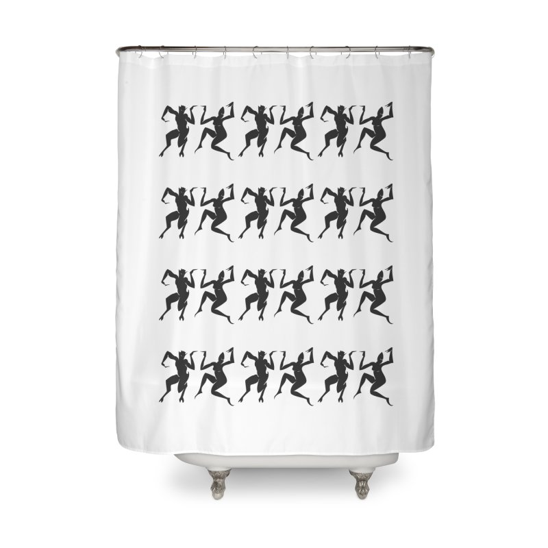 Devils Dancing Home Shower Curtain by True To My Wyrd's Artist Shop