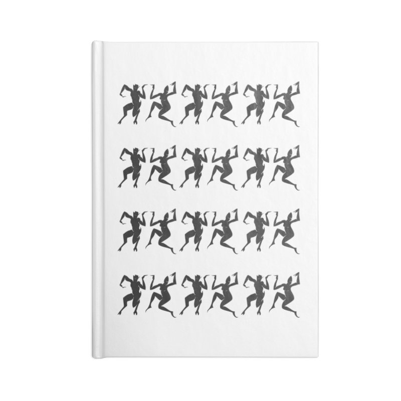 Devils Dancing Accessories Blank Journal Notebook by True To My Wyrd's Artist Shop