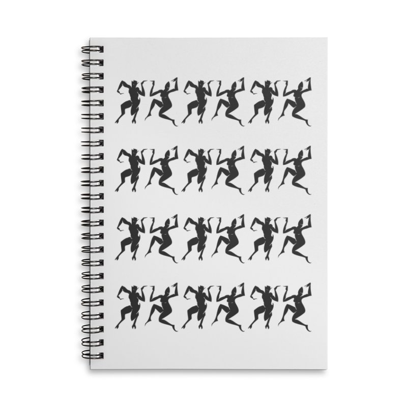 Devils Dancing Accessories Lined Spiral Notebook by True To My Wyrd's Artist Shop