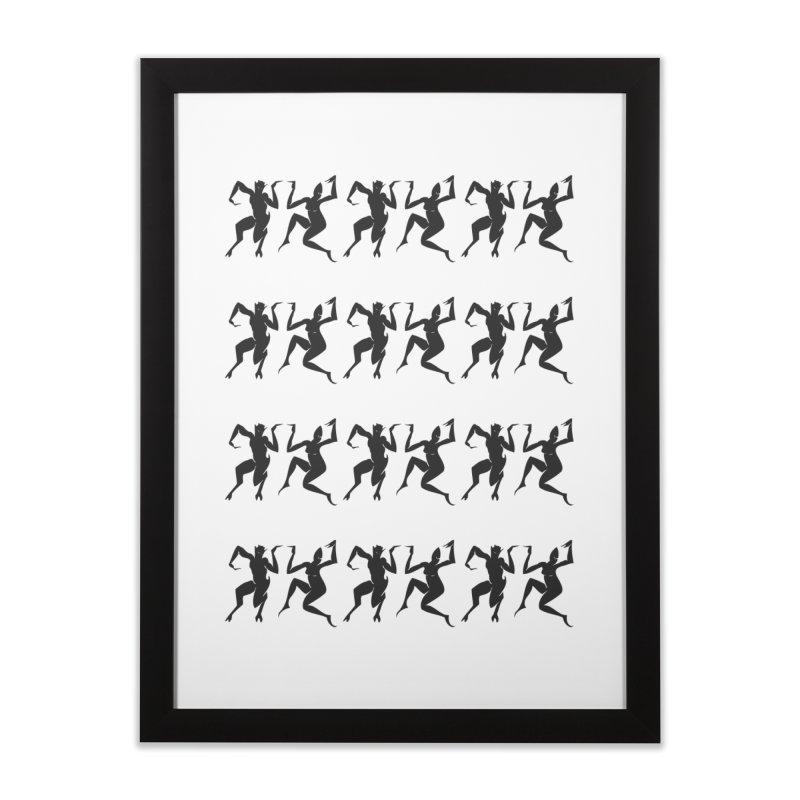 Devils Dancing Home Framed Fine Art Print by True To My Wyrd's Artist Shop