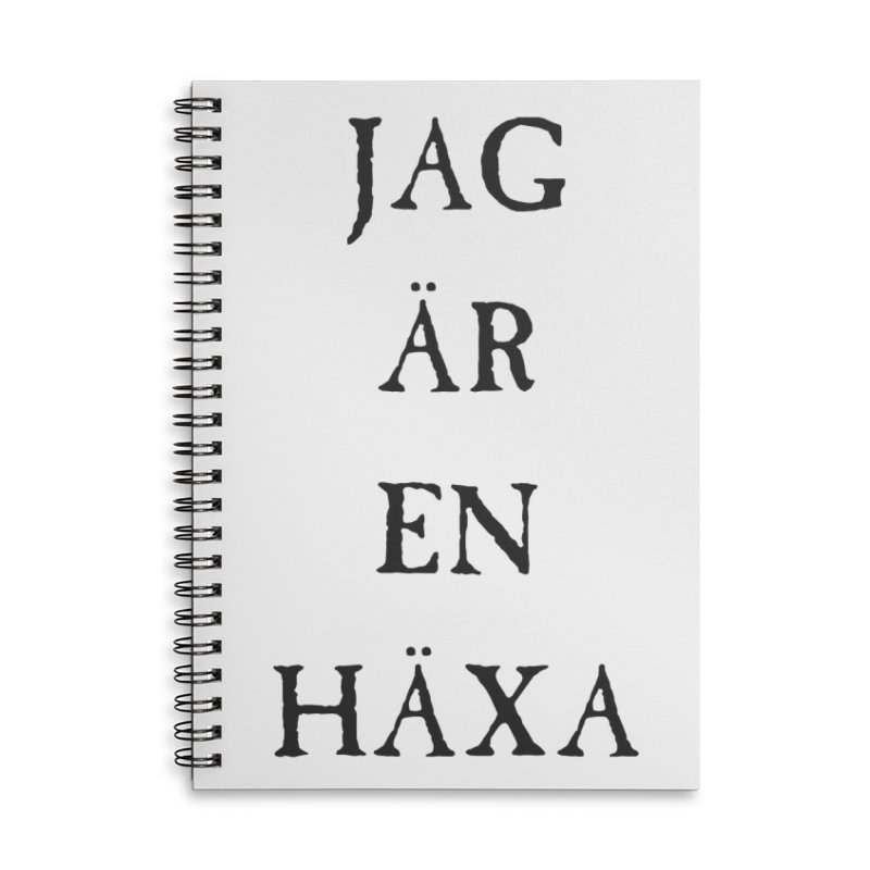 Jag är en häxa Accessories Lined Spiral Notebook by True To My Wyrd's Artist Shop