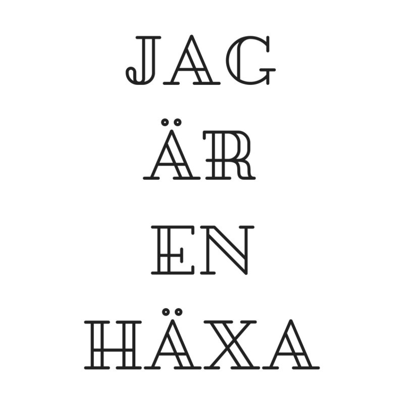 Jag är en häxa by True To My Wyrd's Artist Shop
