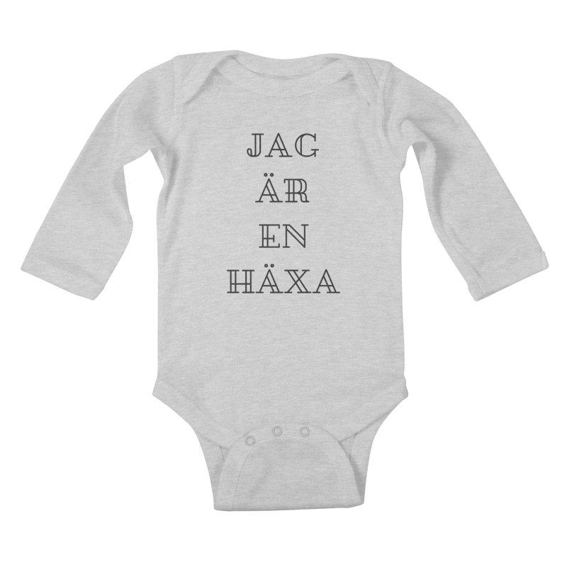 Jag är en häxa Kids Baby Longsleeve Bodysuit by True To My Wyrd's Artist Shop