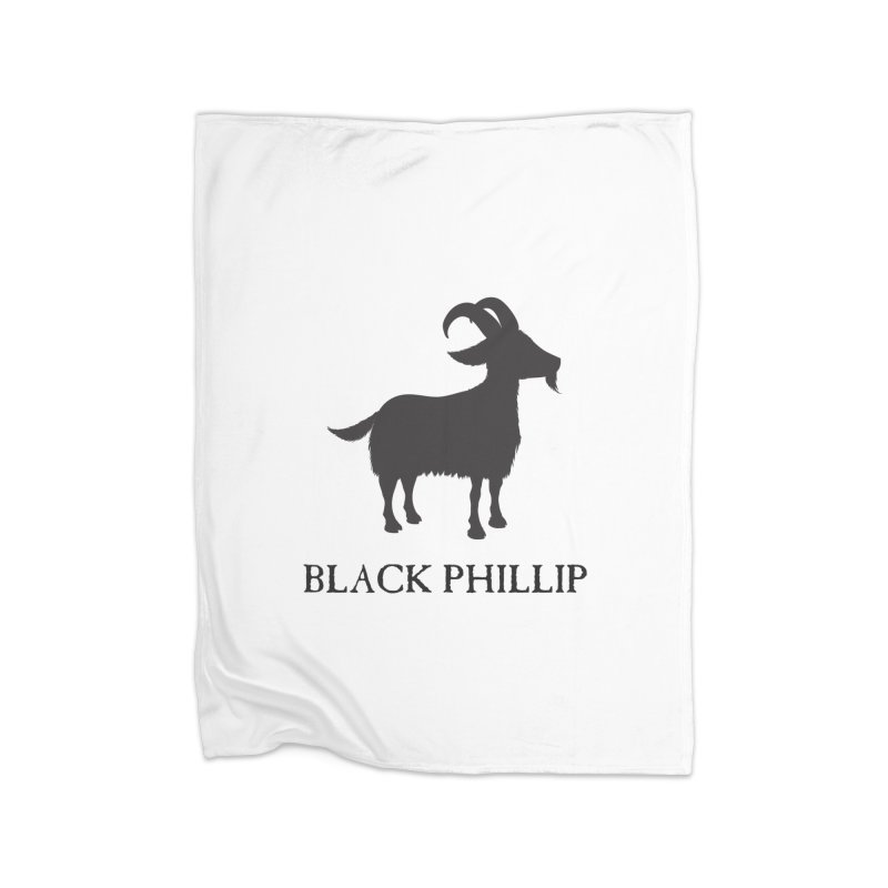 Black Phillip II Home Fleece Blanket Blanket by True To My Wyrd's Artist Shop