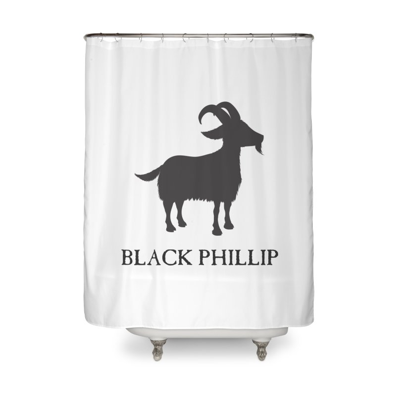 Black Phillip II Home Shower Curtain by True To My Wyrd's Artist Shop