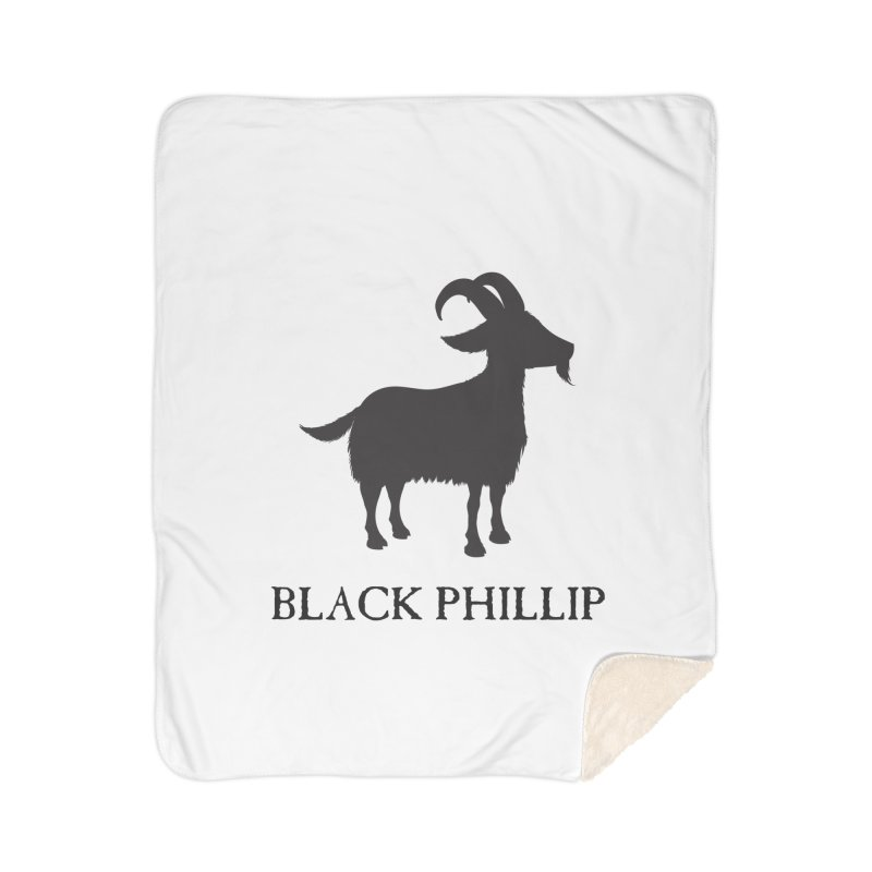 Black Phillip II Home Sherpa Blanket Blanket by True To My Wyrd's Artist Shop