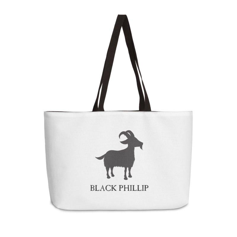 Black Phillip II Accessories Weekender Bag Bag by True To My Wyrd's Artist Shop